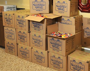 600 pounds of Halloween candy