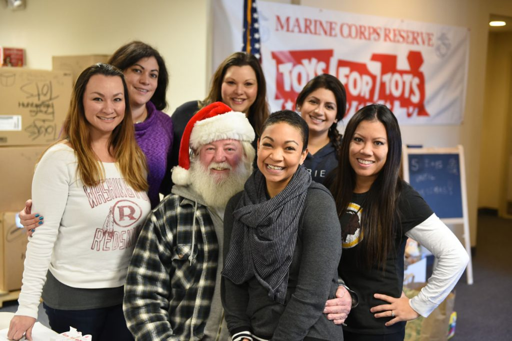 Toys for Tots volunteers