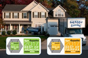 photo showing awards for best moving companies in arlington va fairfax 2017
