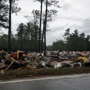 hurricane florence disaster roadside