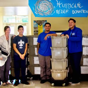 volunteers: Talan, Mom, Alex & Austin